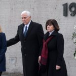 Mike Pence pays somber visit to Nazi concentration camp