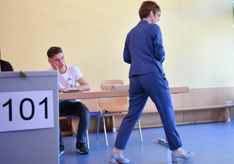 German state votes in election-year test for Merkel
