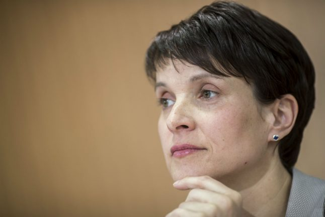 AfD leader Petry considers walking away from politics