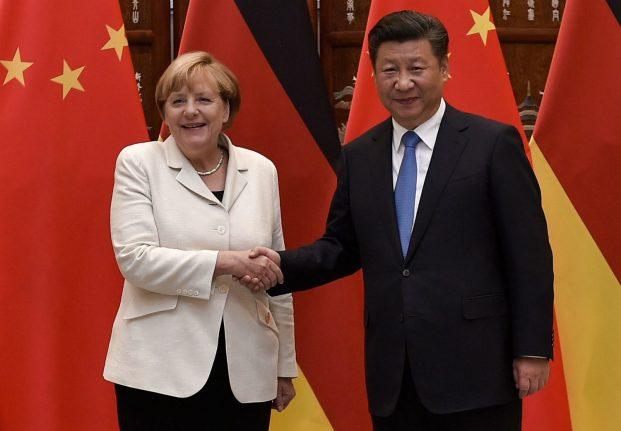 Germany and China to 'fight together' for free trade, says Merkel