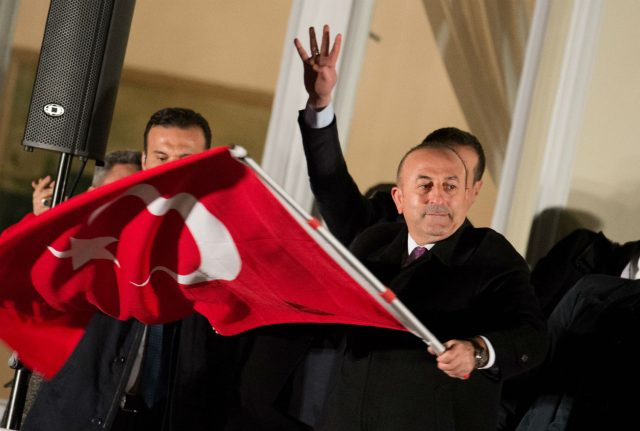 Defiant Turkish FM tells Germany not to lecture in Hamburg speech