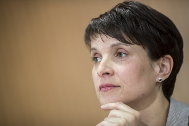 AfD leader says she will not run in September election