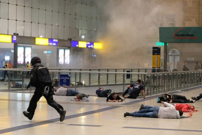 Police use train station to stage practice terror attack with 200 'victims'