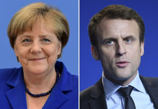 Macron to hold talks with Merkel in Berlin on first day of new job