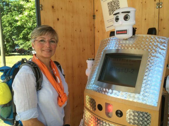 Church creates 'robot priest' to bless visitors in Martin Luther town