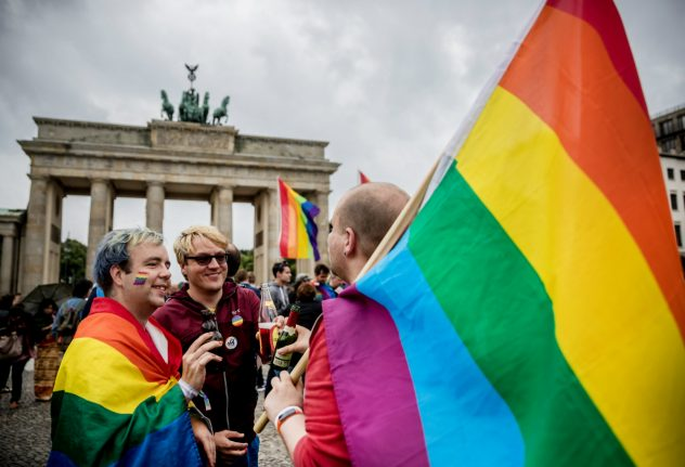 Champagne corks pop in Berlin, as activists celebrate gay marriage victory
