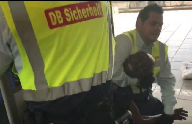 WATCH: Munich security violently drag fare-dodger out of metro train