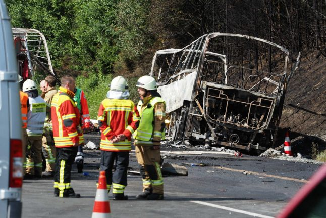 18 dead and 30 injured in Autobahn bus crash