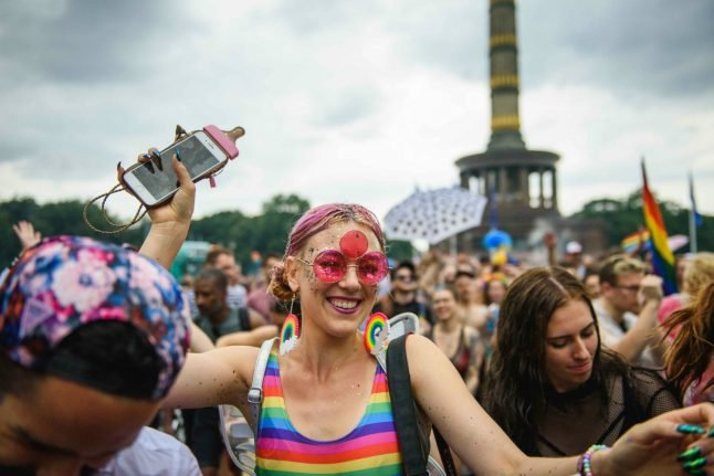 Germany's Gay Pride march celebrates same-sex marriage law