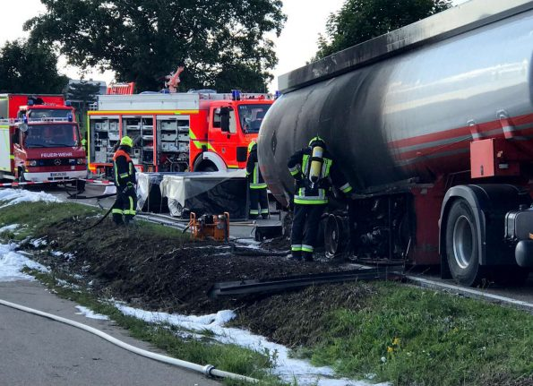 'Hero' truck driver risks life to guide burning tanker away from town