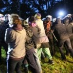 'Several injured' as police clash with G20 protesters at disputed campsite