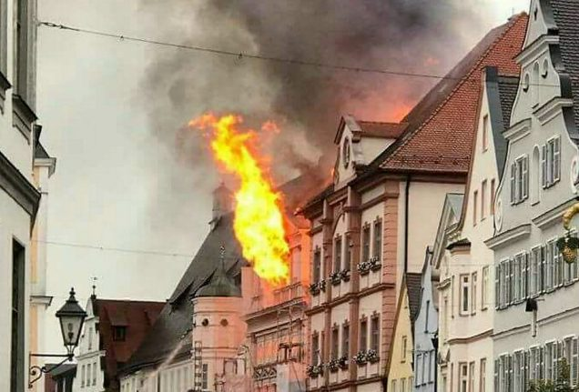 500-year-old town hall burns down in small Bavarian town
