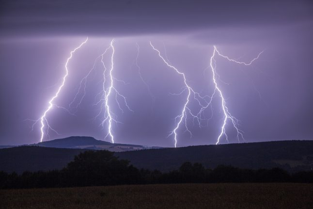 Lightning strikes set houses on fire in Bavaria and Saxony