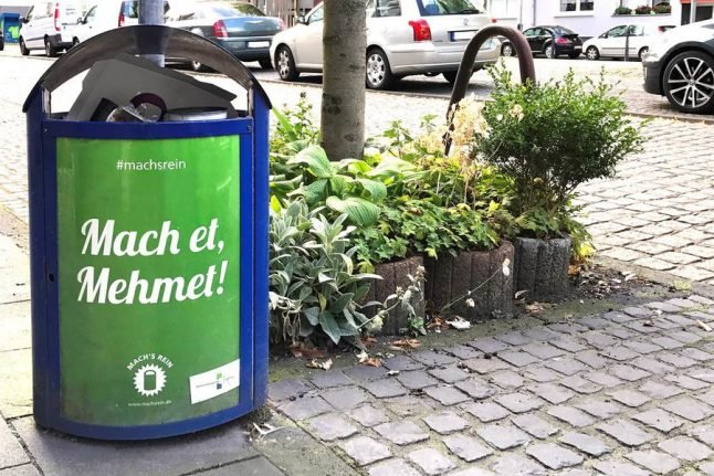 Duisburg anti-litter campaign accused of racism over use of Turkish names