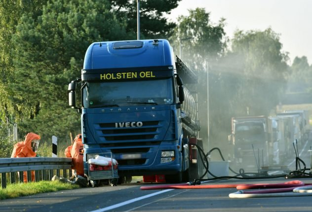 15 injured after truck spills nitric acid onto streets of south Berlin