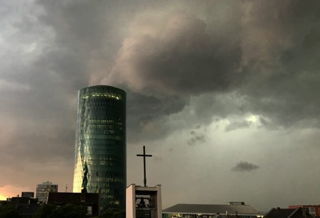 Storms and heavy rain bring trains to halt at Frankfurt central station