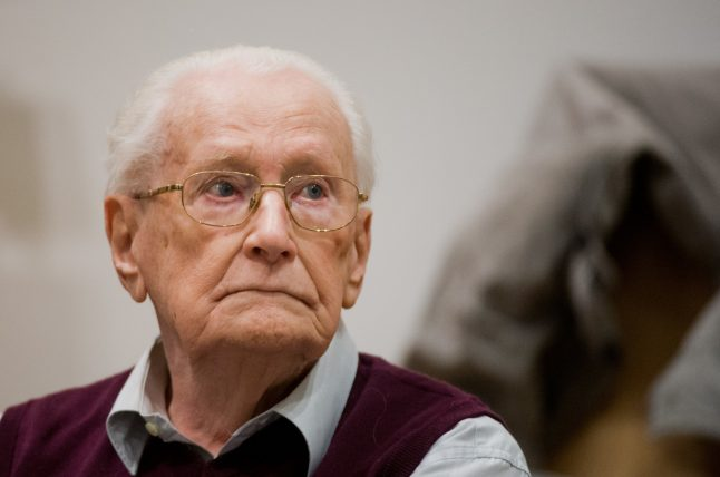 96-year-old 'Bookkeeper of Auschwitz' fit to serve sentence: prosecutors
