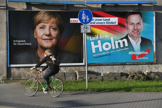 'Vote for loyal parties': Merkel takes on hard-right in final election push