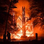 Frankfurt's iconic Goethe Tower burns to ground in early morning blaze