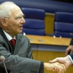 Personalized banknotes for Finance Minister Schäuble's farewell party