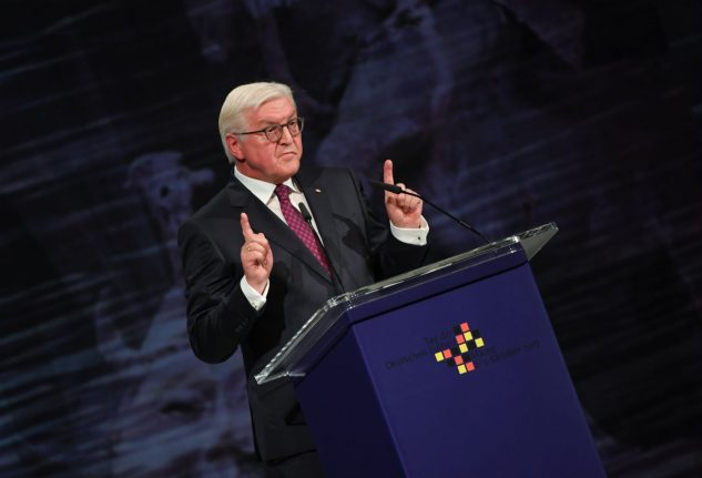 New walls are dividing our society, German President warns on Unity Day