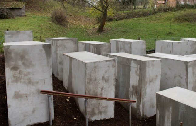 Activists taunt AfD politician with mini Holocaust memorial outside his house