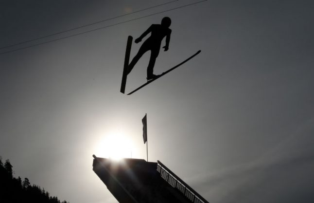 40,000 to see ski jumping competition in Bavarian Alps take leap of faith
