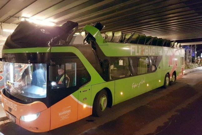 Bridge too low: roof torn off Flixbus after driver takes wrong turn