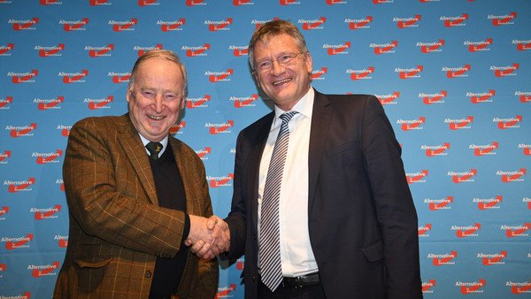 AfD elects leader duo amid pro-refugee protests
