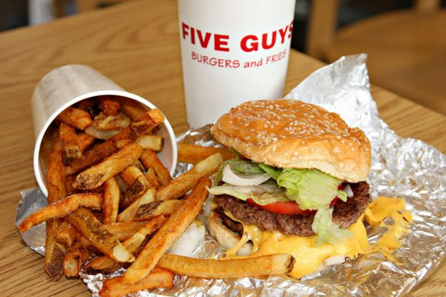 Germany's first Five Guys burger joint opens in Frankfurt