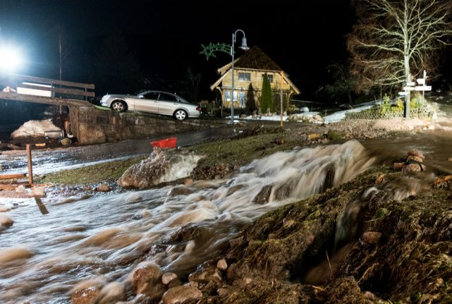 Properties damaged after storm 'Burglind' causes flooding in south Germany