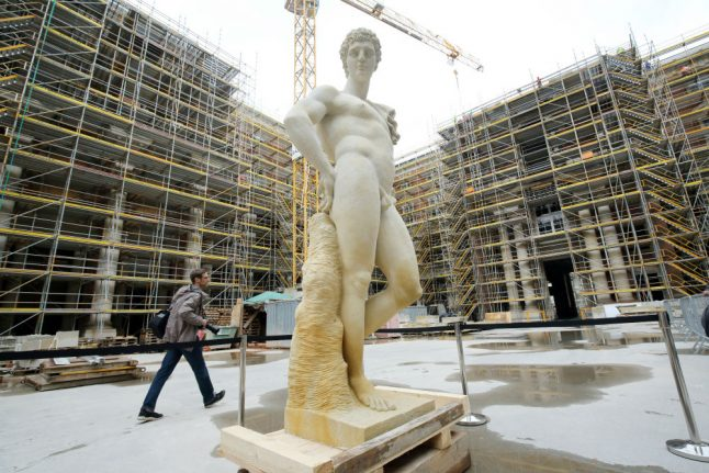 Rebuild of Kaiser's palace in central Berlin on schedule to open next year