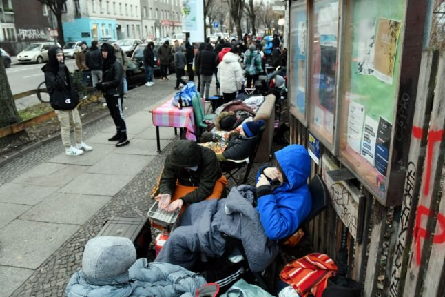 Shoe-Bahn: Berliners queue for sneaker with sewn-in annual transit ticket