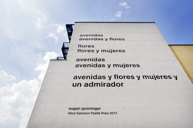 Berlin university outrages poet by erasing his 'sexist' lyrics from wall