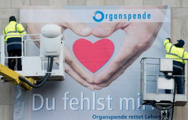 Organ donor numbers in Germany fall to lowest level in 20 years