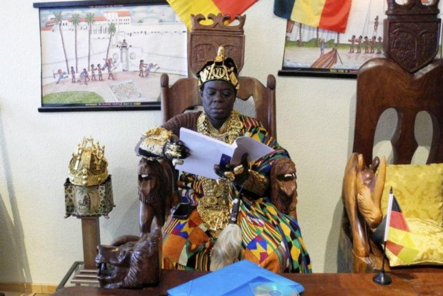Ghanaian king who lives in southern Germany gifts his people a jail