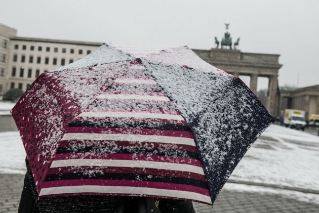 Snow falls on first day of spring in much of Germany
