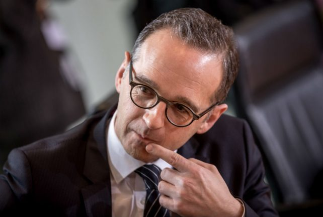 Justice Minister Heiko Maas to become German foreign minister: reports