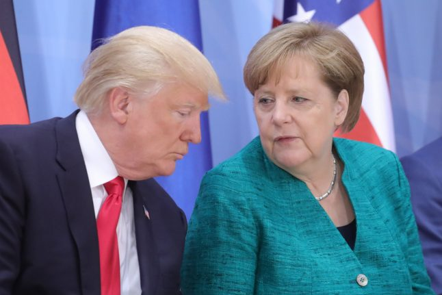 Merkel flies to US for tough talks with Trump, hoping to prevent trade war