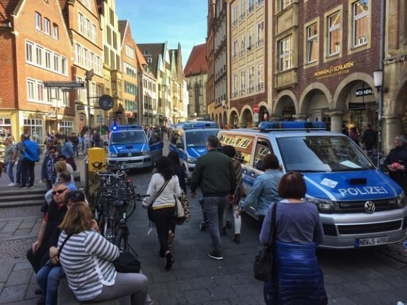 Three dead after 'disturbed' driver ploughs into crowd in Münster