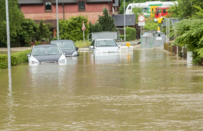 Roads and railways flooded after heavy storms sweep across Saxony