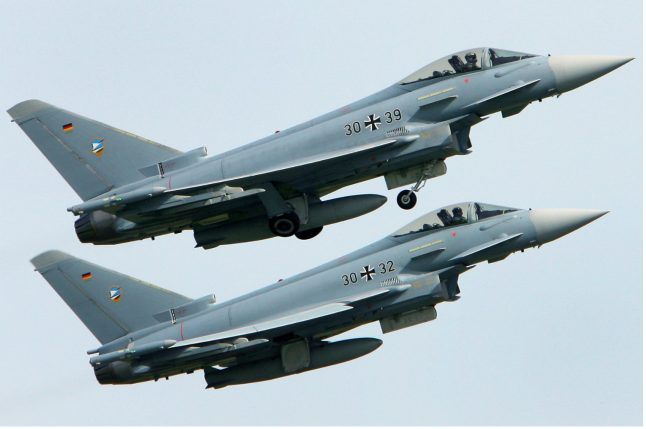 German Luftwaffe only has four operation-ready Eurofighter jets: report