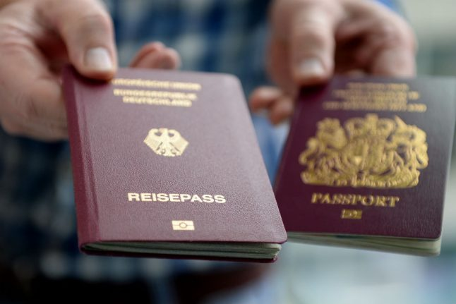 Number of Brits who became German nearly tripled last year