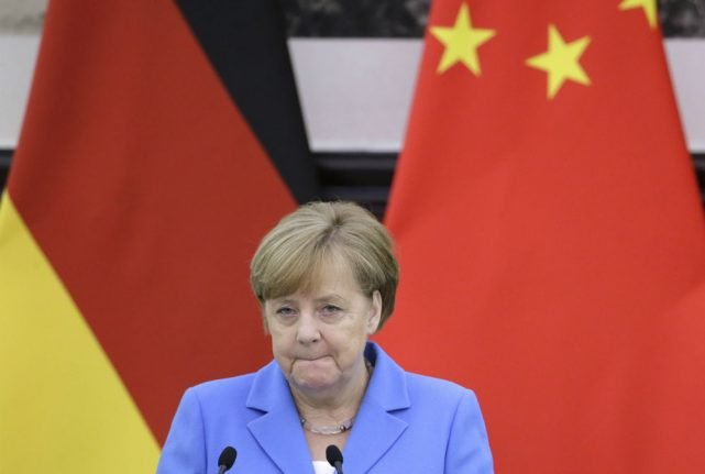 Merkel met wives of jailed human rights lawyers during China visit