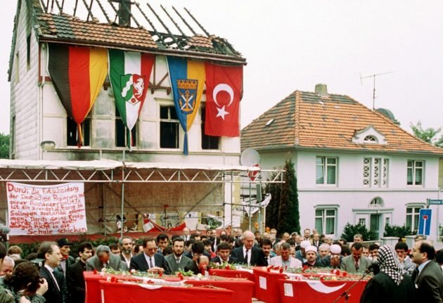 25 years on, tense Germany and Turkey mark deadly neo-Nazi attack