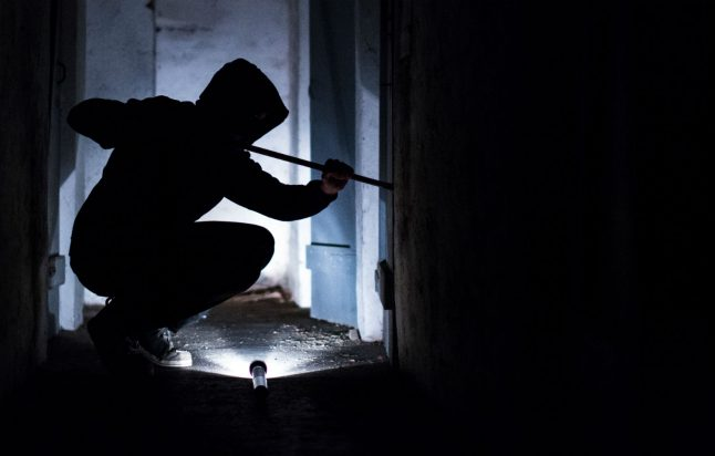 Where do most break-ins occur in Germany and why are they going down?