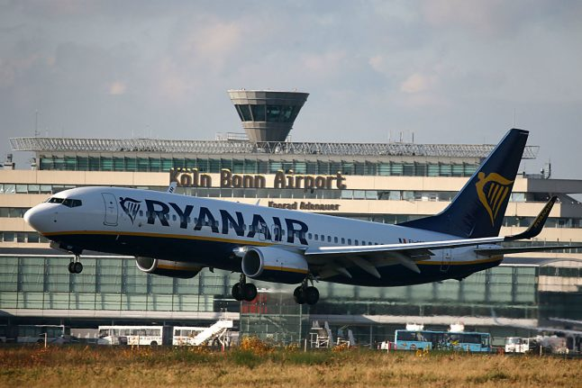 Ryanair flights to and from Germany cancelled