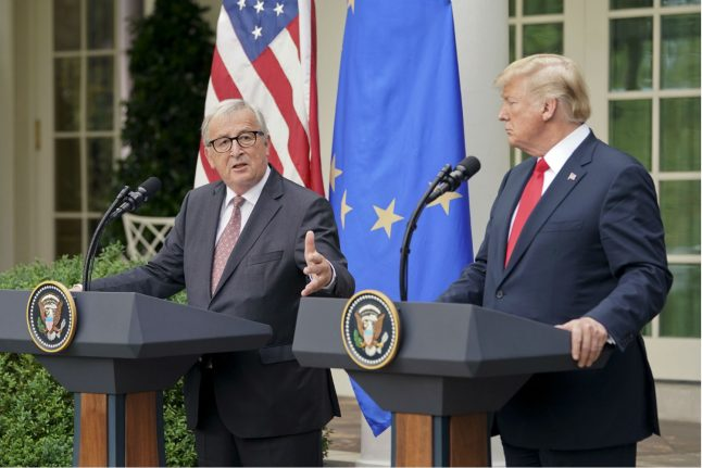 German ministers hail trade announcement from Juncker and Trump