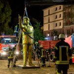 Golden statue of Erodgan set up by artists in Wiesbaden removed after friction