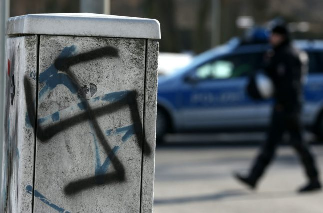 Swastikas sprayed at site of Syrian child's death cause outrage